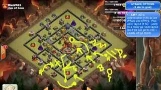 "Clash of Clans -- Wry Intervention -- How should I attack Diaz2423 of ""clan of bros"""