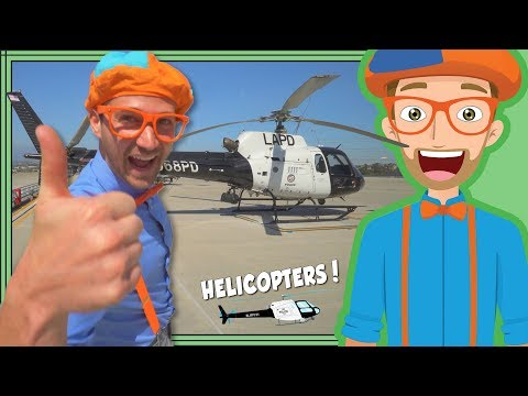 Thumbnail: Blippi and the LAPD Helicopter | Educational Videos for Kids