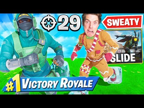 THE SWEATIEST SLIDERS IN FORTNITE! Ft. LazarBeam