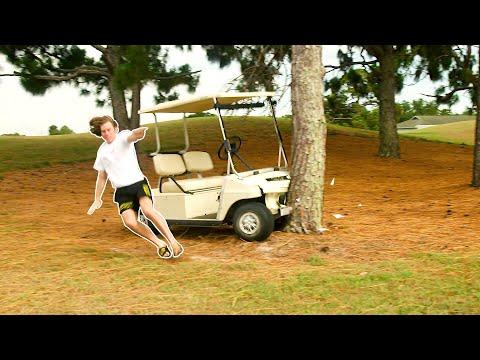 Crashing Golf Carts!