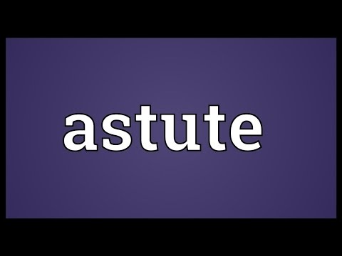 Astute Meaning