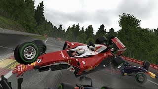 F1 2016 - Crash Compilation (PC HD) [1080p60FPS]
