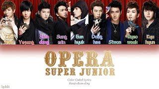 Super Junior (スーパージュニア) – Opera (Japanese Ver.) (Color Coded Lyrics) [Kanji/Rom/Eng]