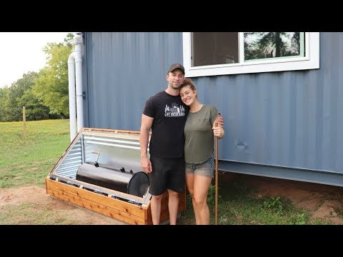FREE HOT WATER | Building a Solar Batch Water Heater