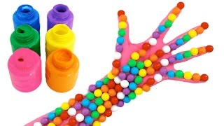 Chewing Gum Balls Opening and Learn Colors with Bubble Gum Balls Candy for Kids
