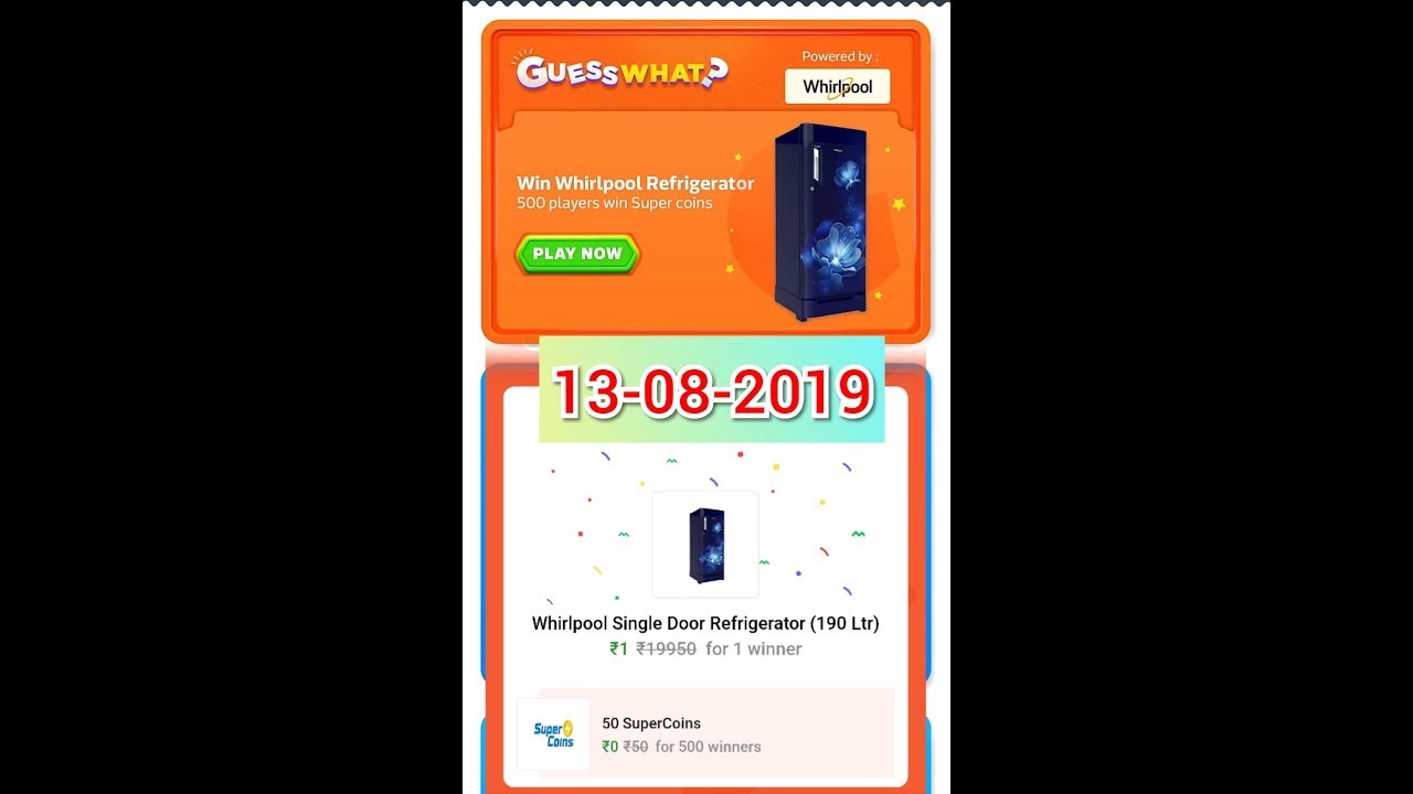 FlipKart Guess what answers today 13 August 2019