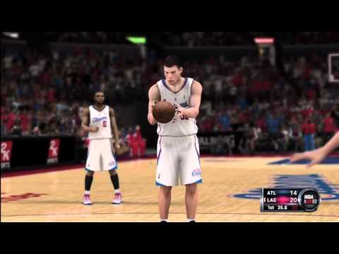 NBA 2K12 Atlanta Hawks vs. Los Angeles Clippers 1st & 2nd qtr.