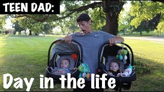 TEEN DAD Day In The Life with twins