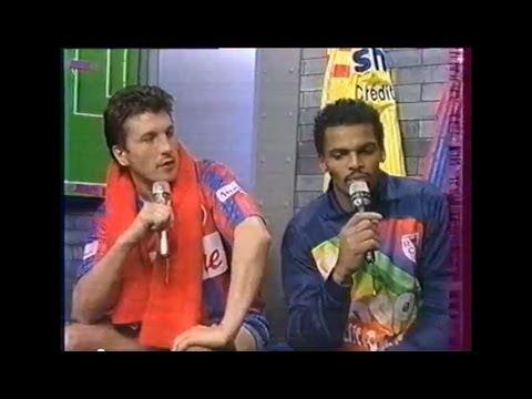 SM Caen - RC Lens (Saison 1991-1992  -  21ème Journée) - Après Match