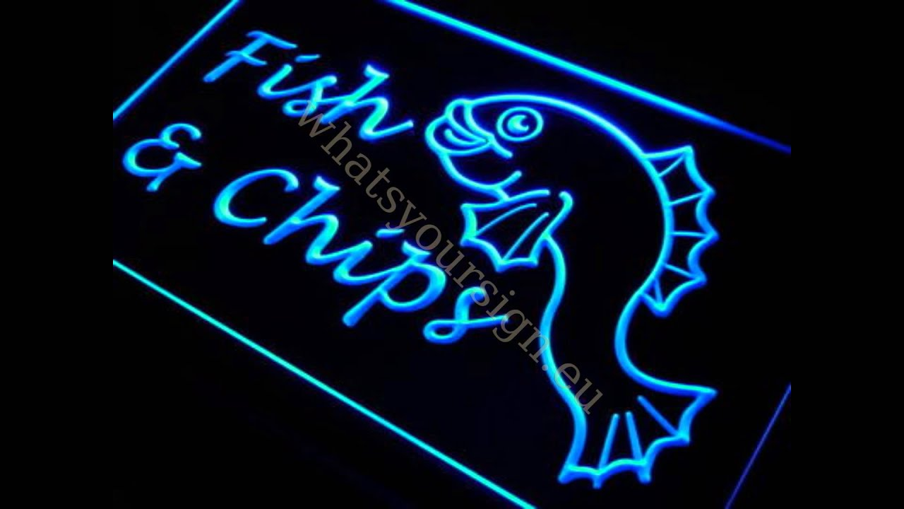 fish & chips - led neon light sign display - youtube, Reel Combo