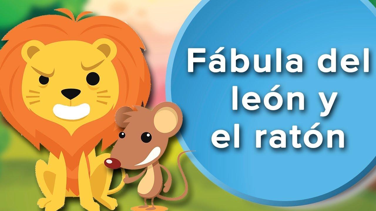 Fábula del león y el ratón para niños. Fábulas infantiles con valores