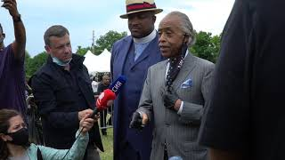 Rev. Al Sharpton speaks in Tulsa