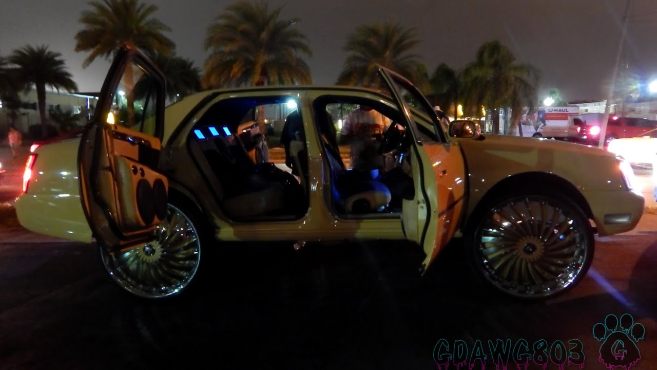 Cadillac Deville on 30 Dub Swyrl Floaters florida Classic 2014