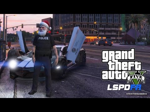 GTA 5 LSPDFR EPiSODE 114 - LET'S BE COPS - LAMBO PATROL (GTA 5 PC POLICE MODS) MERRY CHRISTMAS