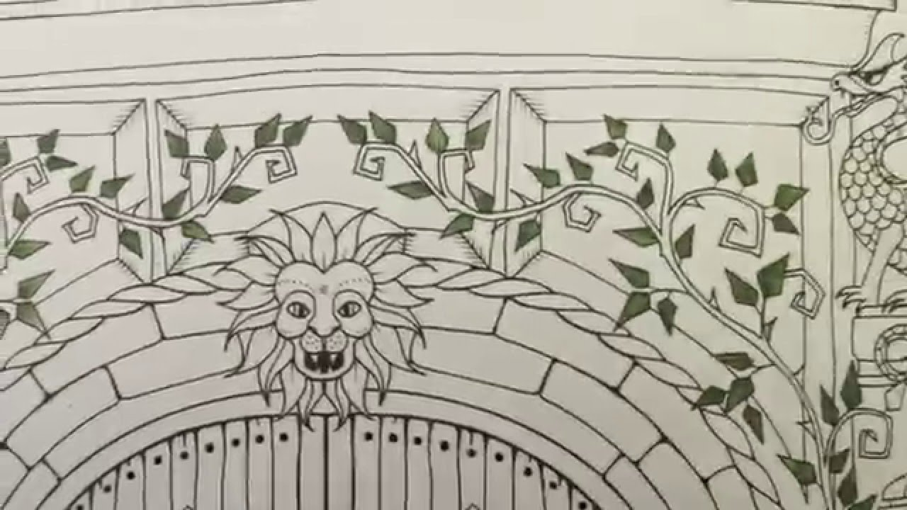Enchanted Forest Tutorial Watercolor Pencil Leaves In Adult Coloring Books