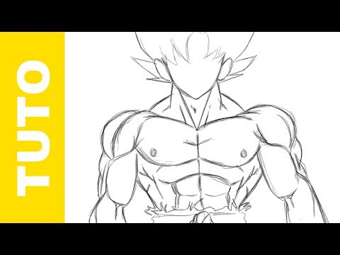 How to Draw the Body of GOKU DBZ - The MUSCLES