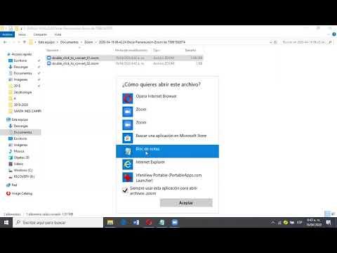 Convertir archivos zoom a mp4.