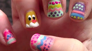 Easter Egg And Chick Nails
