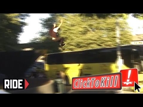 Two Story Skateboard Slam  - Premiere Episode of Click To Kill