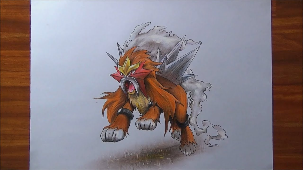 Cómo Dibujo Al Pokemon Legendario Entei Patrickart Youtube