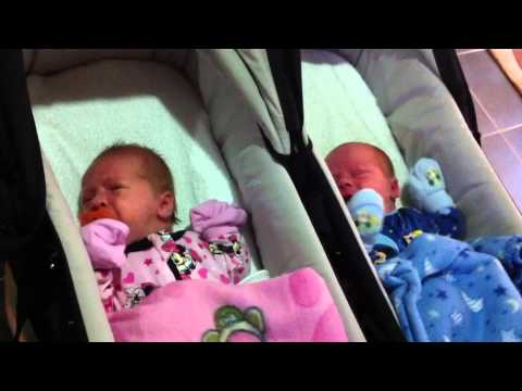 newborn baby twins crying together youtube