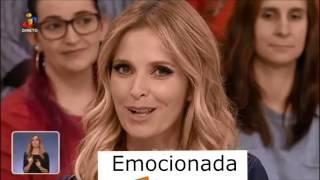 Cristina Ferreira Perde a cabeça Fica toda ela Emocionada Triste a Chorar em Você na Tv