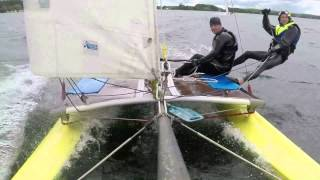 Catamaran extreme sailing on Lake Dusia