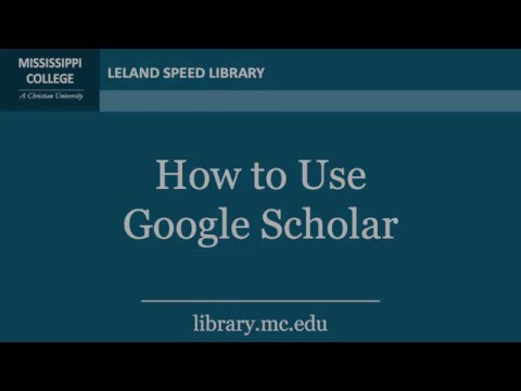 Library Tutorials   How to use Google Scholar