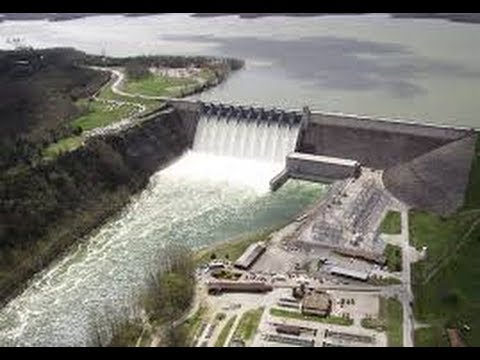 Table Rock Dam Flood Gates Open View