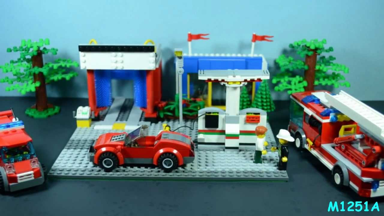 Shell Gas Station Car Wash >> Lego Gas Station Car Fire - YouTube