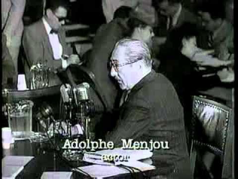 Adolphe Menjou HUAC Testimony Excerpt 1947