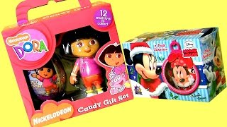 Surprise Boxes Christmas In July Disney Minnie Mouse Surprise Eggs & Nickelodeon Dora The Explorer