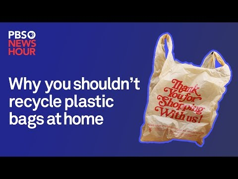 Why you shouldn't recycle plastic bags at home