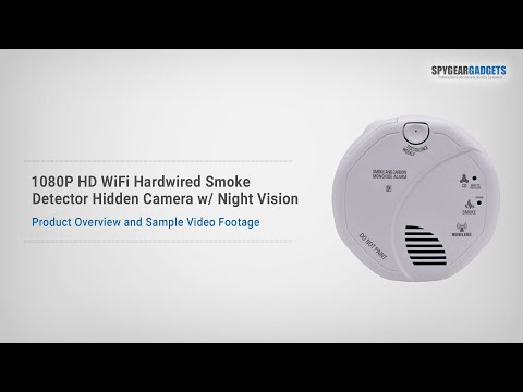 1080p Hd Wifi Hardwired Smoke Detector Spy Camera With Night