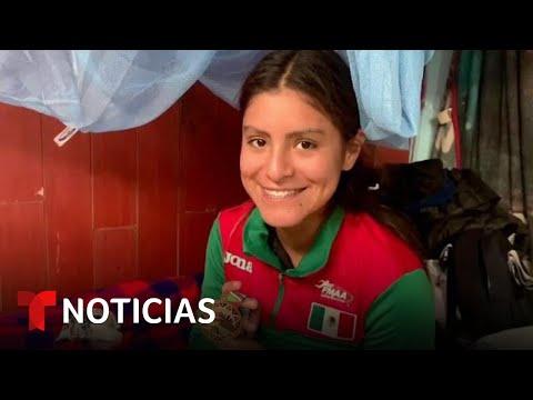 Promesa del atletismo vive en una casa de cartón en México