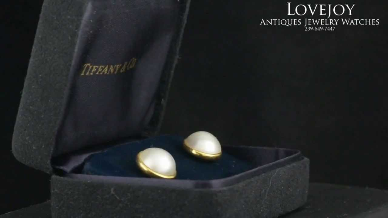 495f78c339f68 Tiffany & Co 18k Gold & Mabe Pearl Earrings 11mm Genuine Paloma Picasso