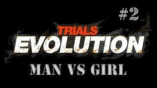 Man Vs Girl | Trials Evolution | Big Weiner Head | #2