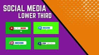 Social Media Lower Third Green Screen || No Copyright