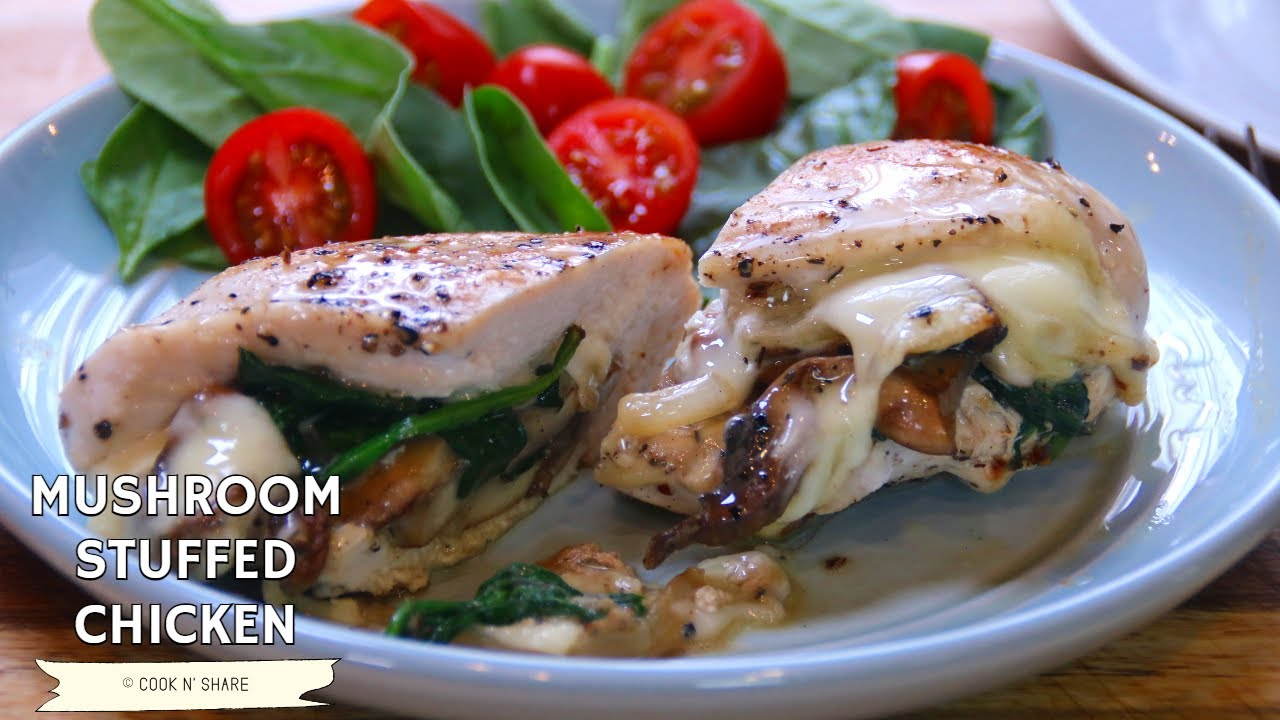 Easy Cheesy Mushroom Stuffed Chicken - You Won't be Disappointed