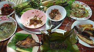 กินข้าววันแม่ ตำบักหุ่ง ทอดปลา หมกฮวก ป่นเห็ด ปิ้งปลาแดก