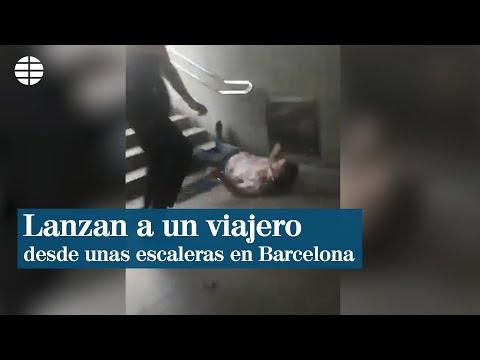 Apartados dous vixiantes do Metro de Barcelona por lanzar ao chan a un home