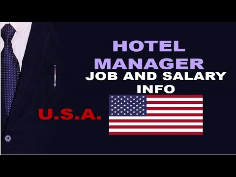 Hotel Manager Salary In The USA - Jobs And Wages In The United States