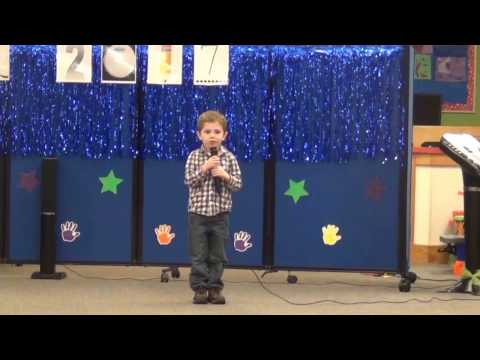 Pre School Idol - 4yr old singing Kick the dust up