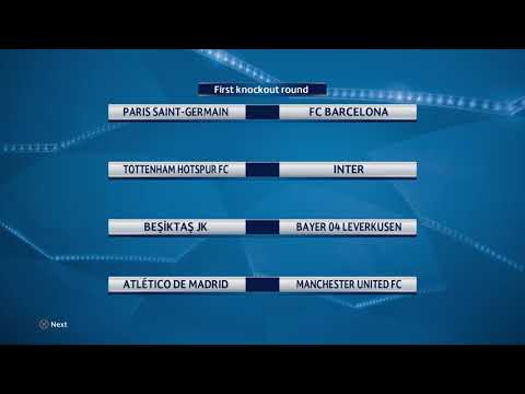 UEFA Champions League First Knockout Round 2018/2019 Drawing HD