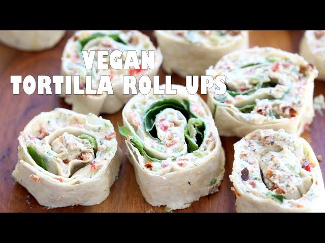 VEGAN TORTILLA ROLL UPS  With Tofu Herb Cream Cheese | Vegan Richa Recipes