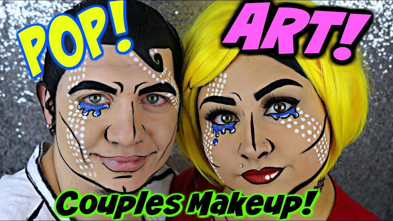couples pop art halloween makeup tutorial beautybyjosiek youtube