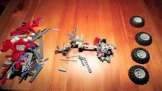 Making of Lego Technic 8261 - test footage of the stop motion animation