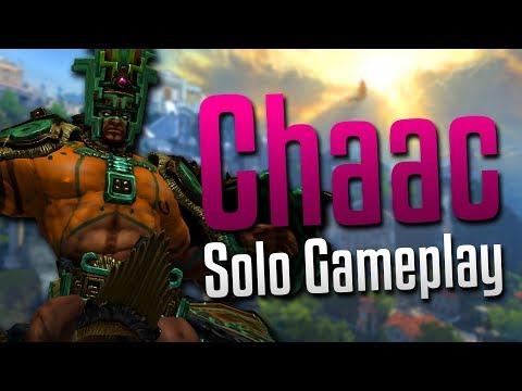 Smite: The Mayan Lumberjack!- Chaac Solo Gameplay