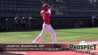 Justin Campos Prospect Video, OF, Cathedral Catholic High School Class of 2019
