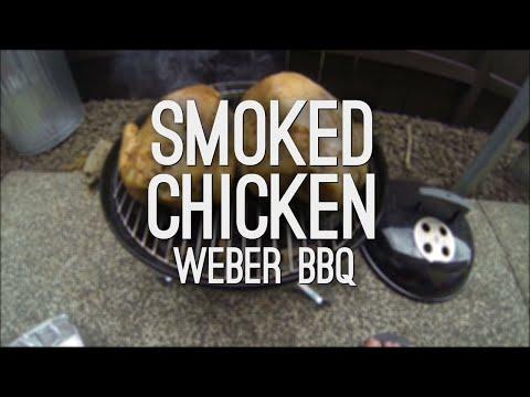 , Smoked Roast Chicken on a Weber Smokey Joe BBQ